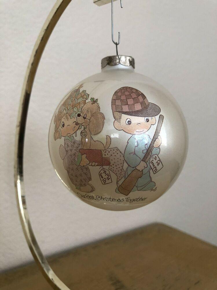 Precious Moments Vintage Christmas Ornaments 2020 Vintage Precious Moments Our First Christmas Together 1986 Glass