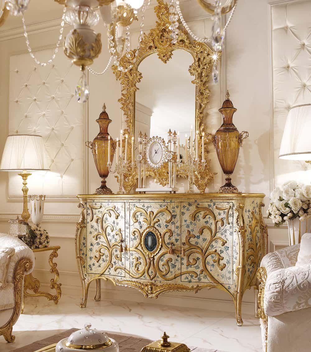 Arredamento classico di lusso per la zona giorno andrea for Arredamento classico lusso