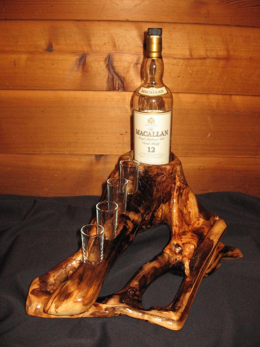 Custom Made Log Whiskey Rack Pin Pinterest # Muebles Para Guardar Whisky