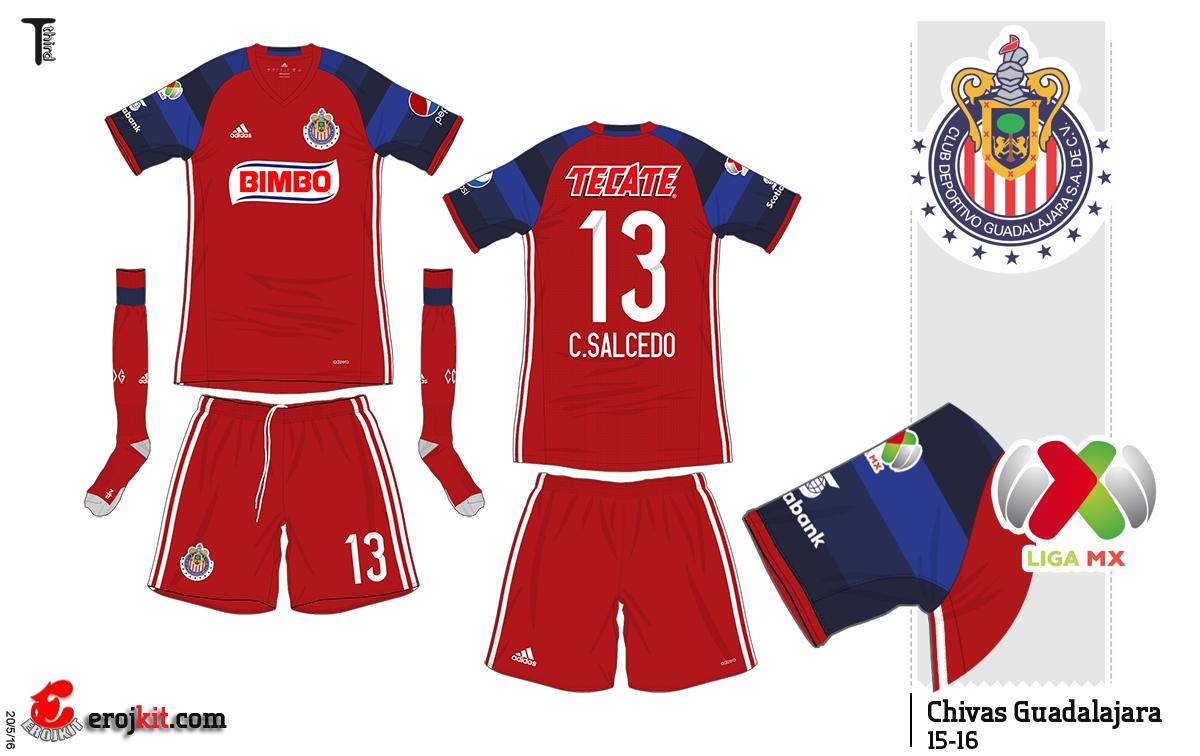 best website 8024b 8caeb Chivas Guadalajara of Mexico 3rd kit for 2015-16. | Soccer ...