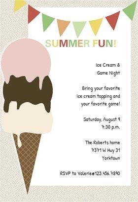 Ice Cream Social Friday Freebie Ice Cream Social Invitations Ice Cream Party Invitations Party Invite Template
