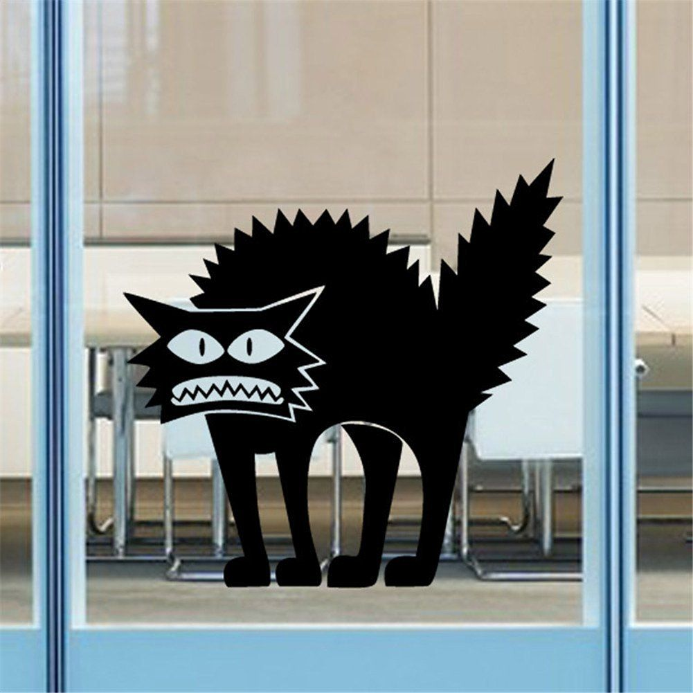 Bestwoohome Wall Sticker Halloween Decorations Decor Window Decal (1 - halloween window decor