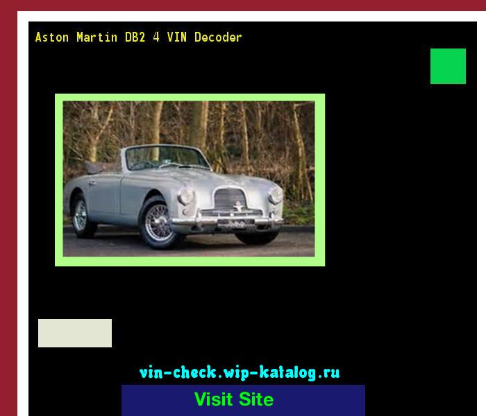 Aston Martin DB2 4 VIN Decoder