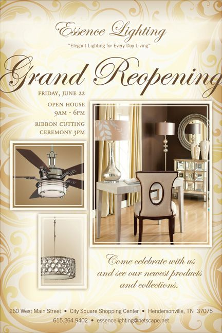 Grand Reopening Flyer Design For Showroom  Love It On Paper