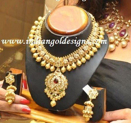 indian jewelry sets   Bridal Kundan Jewelry Set Handcrafted Designer Jewellery