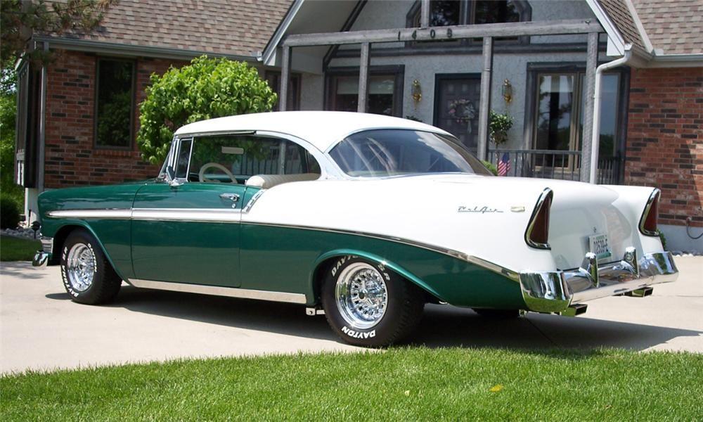 1956 Chevrolet Bel Air Custom 2 Door Hardtop Rear 34 23830