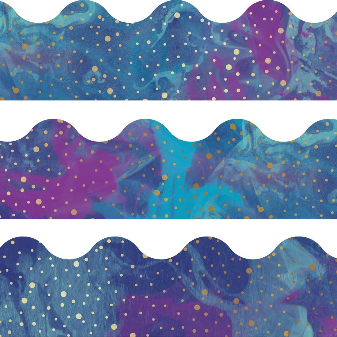 Galaxy Scalloped Borders By Carson Dellosa