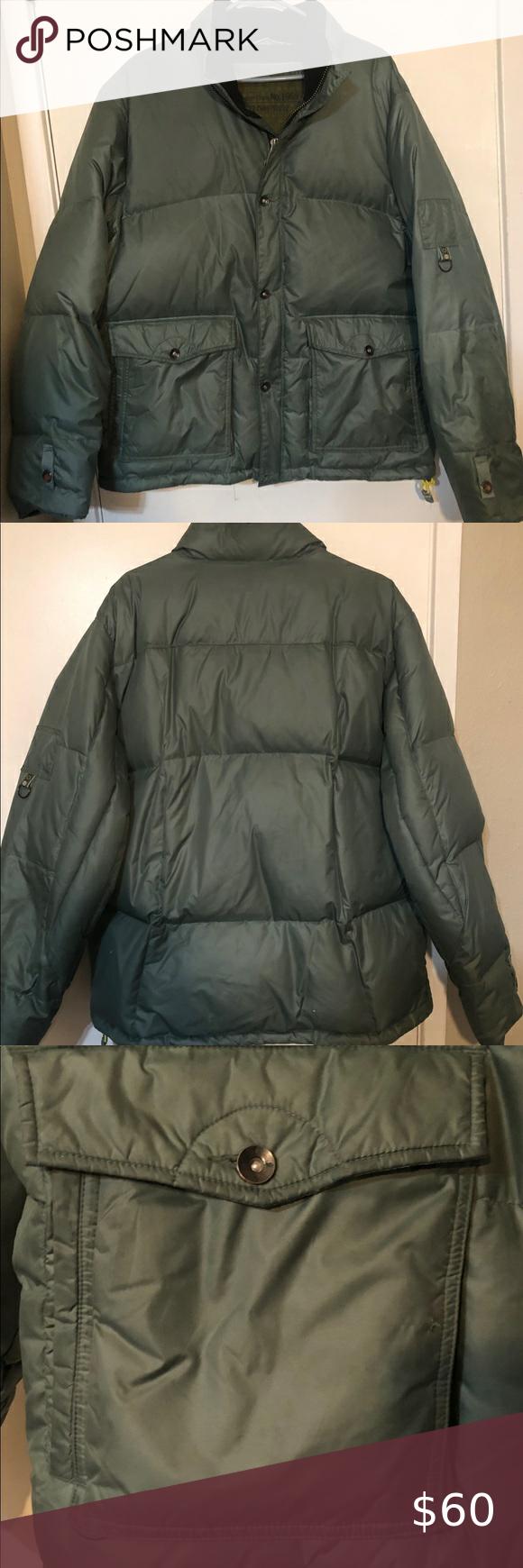Men S Green Khaki Gap Puffer Coat Size Large Puffer Coat Khaki Gap Jacket [ 1740 x 580 Pixel ]