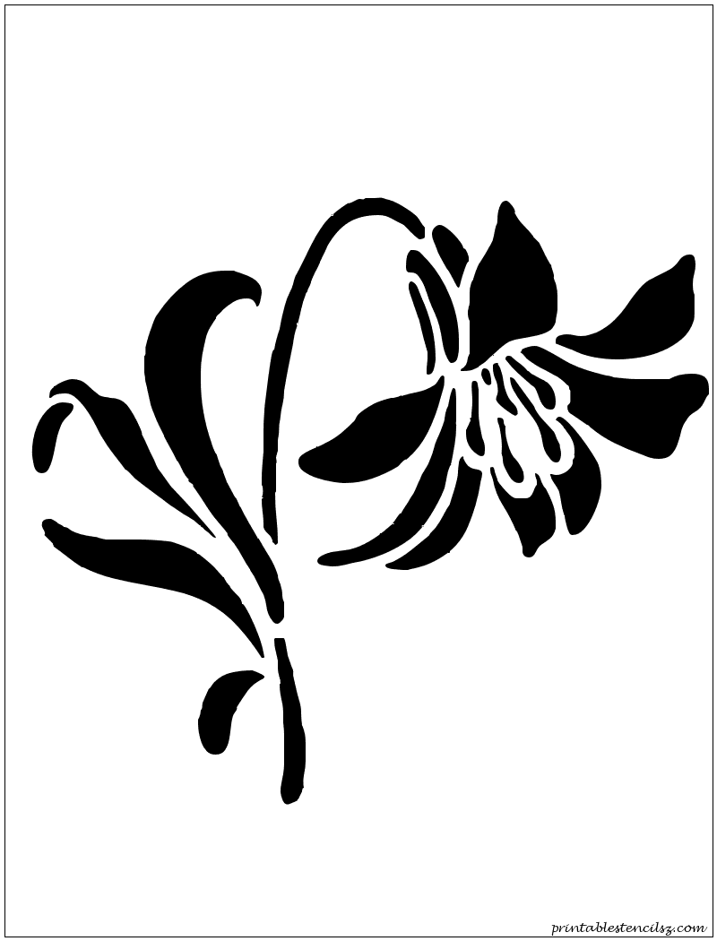 Wall painting stencils printables - Flowers Printable Stencils