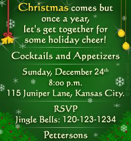 Christmas Party Invitation Wording  Invitation Wording And Party