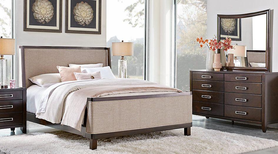 Bellissimo Java 5 Pc King Upholstered Bedroom  King Bedroom Sets Captivating Queen Size Bedroom Sets Design Ideas