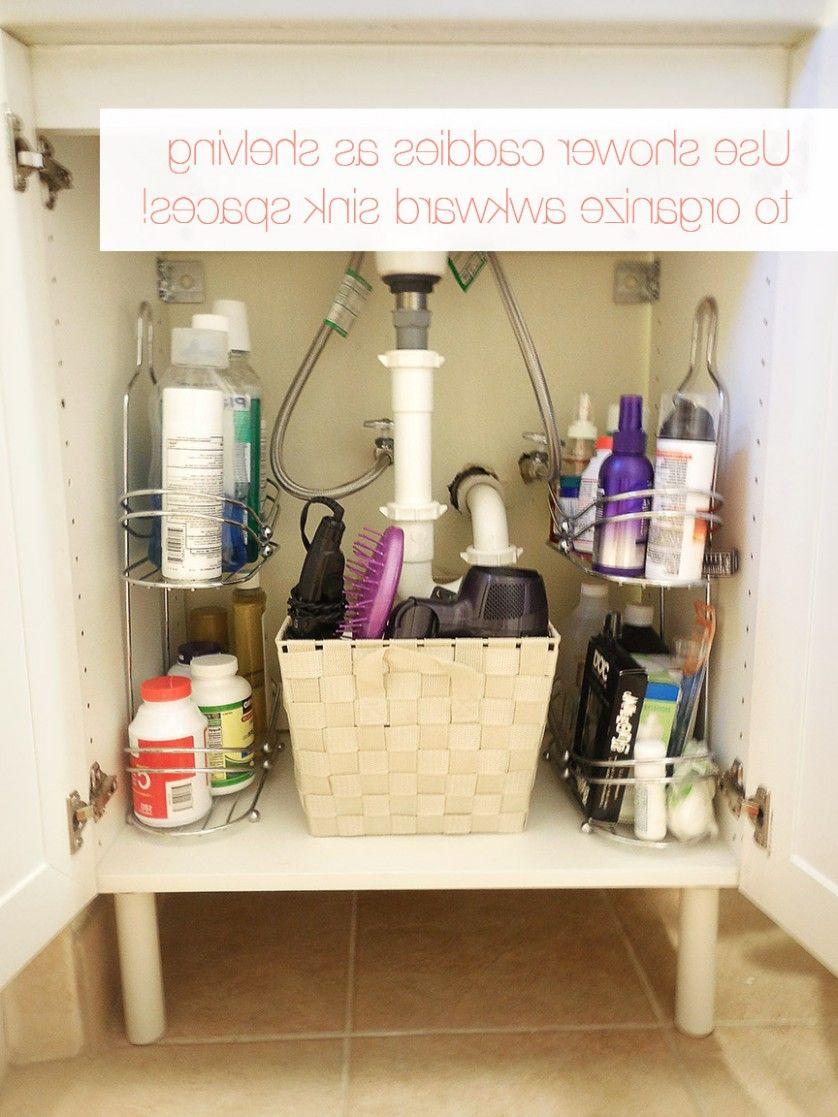 badezimmer schrank organisation ideen  kleine