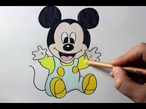 How To Draw Baby Mickey Mouse Easy Drawing Tutorial The Art Of