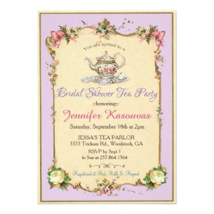 Vintage tea party bridal shower invitation vintage tea parties vintage tea party bridal shower invitation invitations custom unique diy personalize occasions filmwisefo
