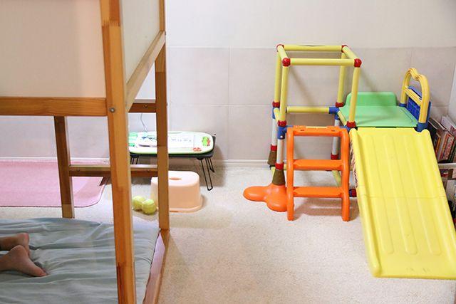 3人兄弟の子供部屋レイアウト自分スペースでお片づけも上手に