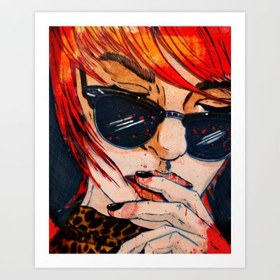 LUNETTES NOIRES Art Print by Stephan Parylak - $18.00