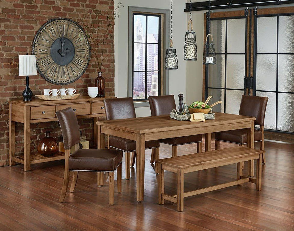 Simply Dining Kitchen Table Set W Leather Chairs Natural Maple Kitchen Table Settings Top Kitchen Table Dining Table In Kitchen