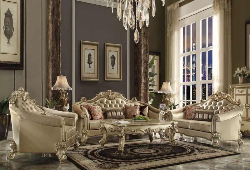 Best Acme Furniture Vendome Ii 3 Piece Living Room Set 400 x 300