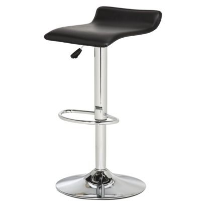 Lex Adjustable Barstool Black Room Essentials