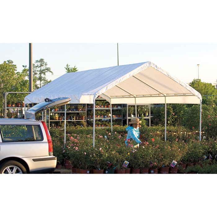 Shelterlogic Super Max 10ft W Deluxe Canopy 20ft L X 10ft W X 9ft 6in H 2in Frame 8 Leg Model 23571 Canopy Outdoor Backyard Canopy Canopy Architecture