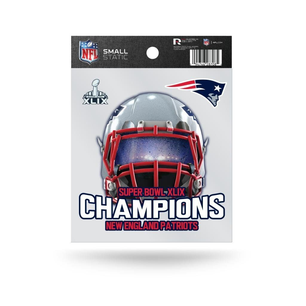 New England Patriots Official NFL 3.5 inch Super Bowl 49 Champions Small Static Cling Window Car Decal by Rico Industries *** Unbelievable offers are coming! : 99 cent sports and outdoors