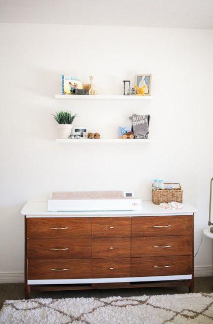 Mid-century modern dresser in gender neutral nursery | Baba ...