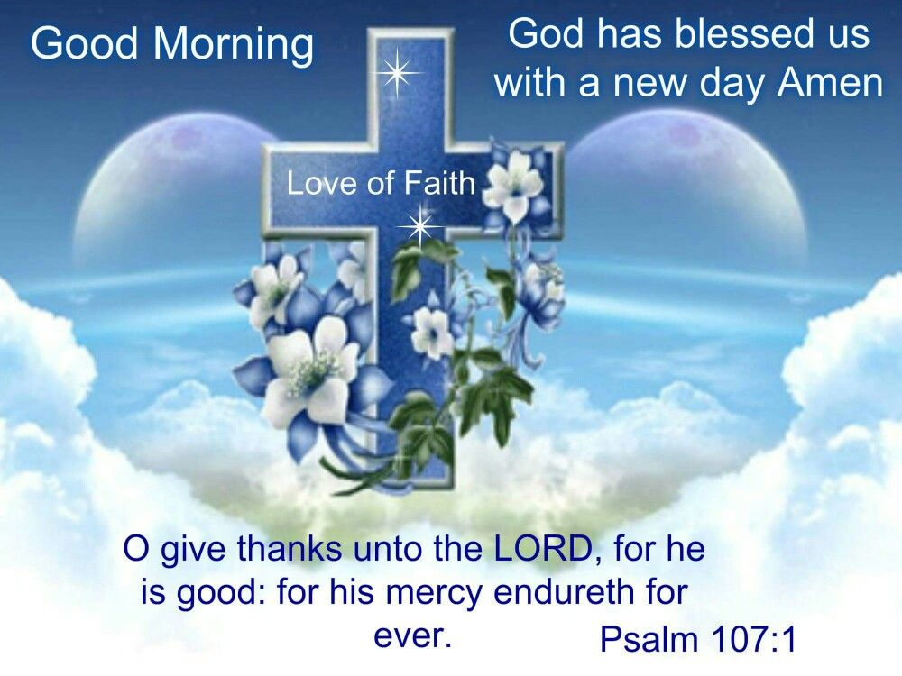 Good Morning Quotes New Day : Good morning god has blessed us with a new day amen