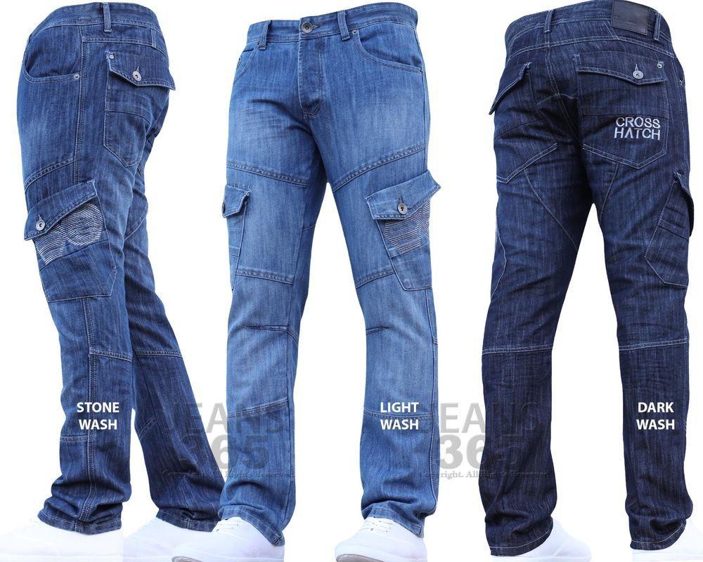 crosshatch mens combat jeans