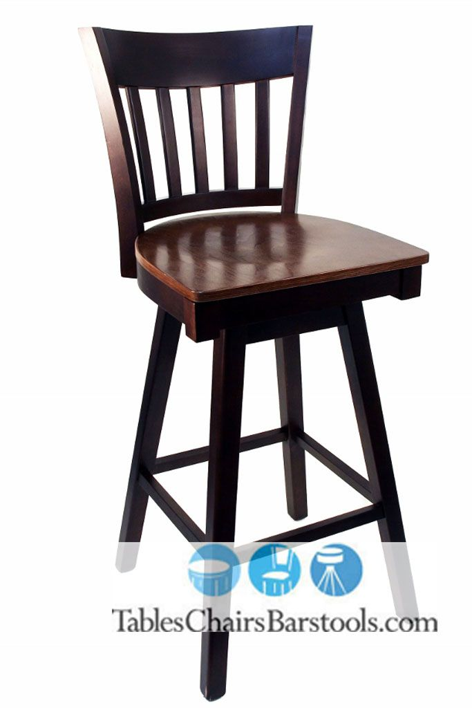 This Vertical Back Wooden Swivel Bar Stool Is Our Very First Model Of Wooden Bar Stool That Swivels We Wooden Swivel Bar Stools Swivel Bar Stools Bar Stools