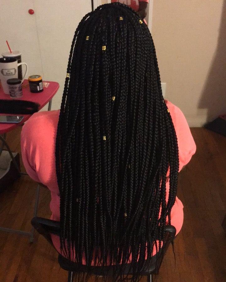 23+ Medium size box braids ideas