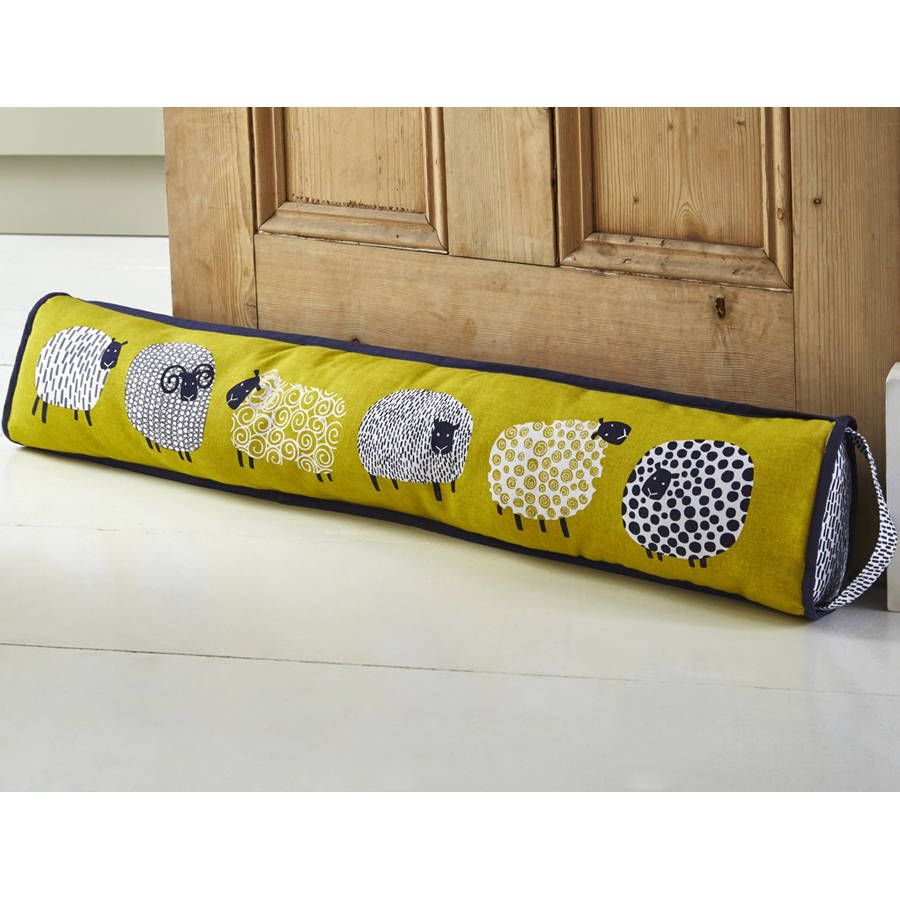 Sheep Draught Excluder May Be Triangular Shape 90x14cm Cotton With Poly Wadding And Sand Manualidades En Tela Tope De Puerta Manualidades Caseras