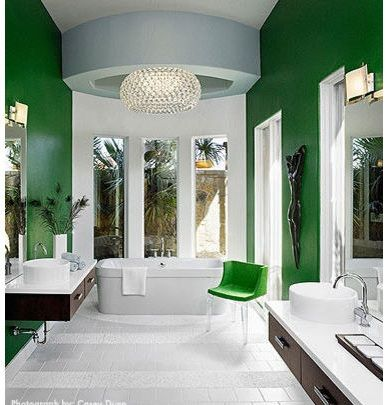Cool Bathroom Paint Ideas green & white bathroom paint colors ideas - imagelaura britt