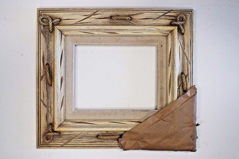 8 x 10 Off white New Wood Picture Frame *Nautical Rope\