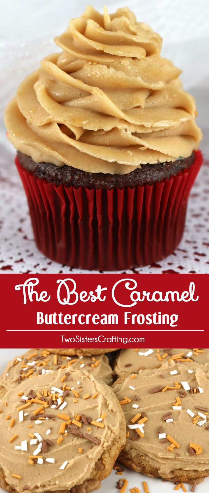 the best caramel buttercream frosting rezept two sisters crafting blog pinterest kuchen. Black Bedroom Furniture Sets. Home Design Ideas