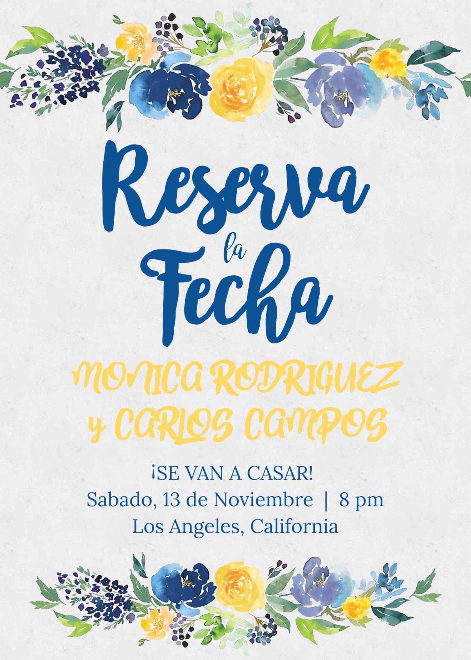 save date reserva la fecha spanish wedding español invitacion