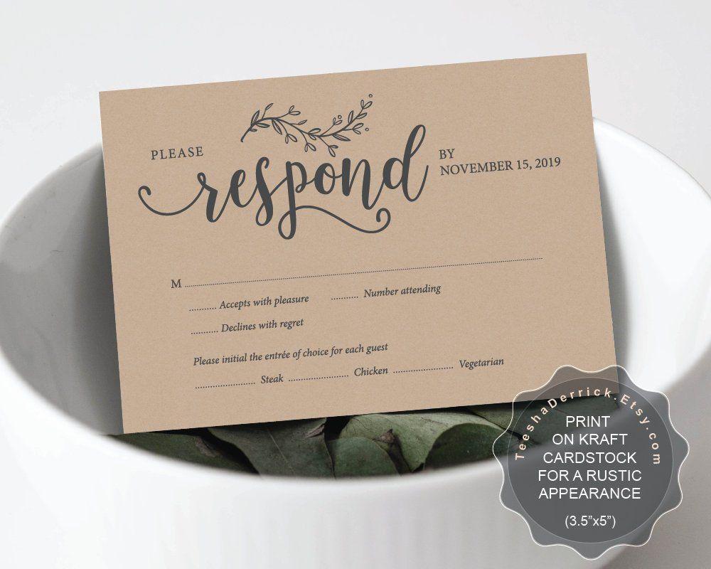 Wedding Invitation Rsvp Card Template Editable Pdf Instant Download File Enclosure Wedding Invitations Rsvp Cards Wedding Invitations Rsvp Rsvp Wedding Cards
