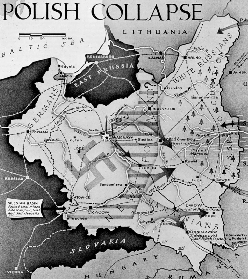 Polish Collapse English map explaining the