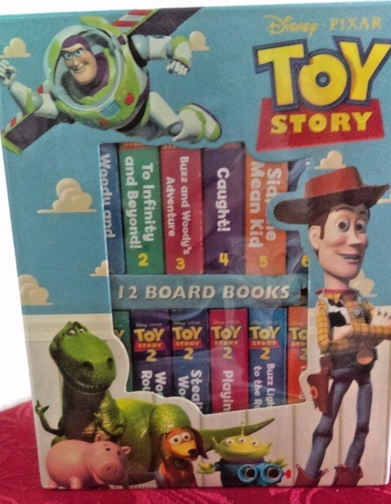 My First Library 12 Toy Story Board Books In Original Case Retail 49 95 Toystory Board Books Toy Story Pixar Toys