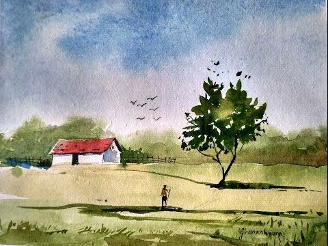 Simple Watercolor Landscape Painting For Beginners Paint With
