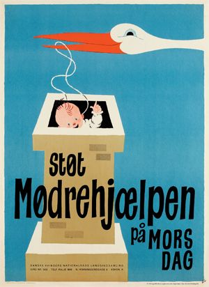 Support Mothers Help ( a charity for mothers in need) on Mother's Day. Arne Ungermann 1947