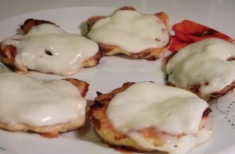 Kuracie placky s mozzarellou 1-2-3-4.fáza