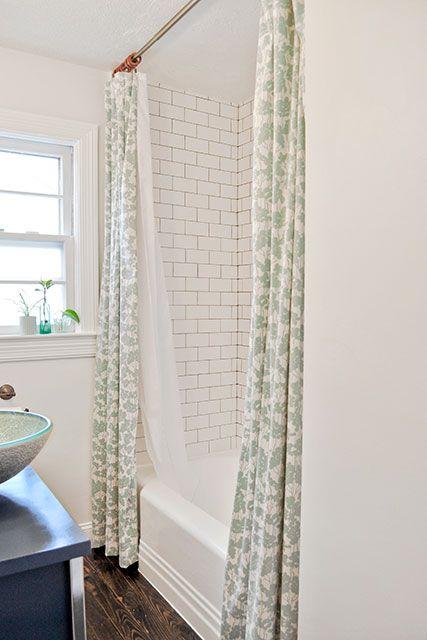 double shower curtain double shower