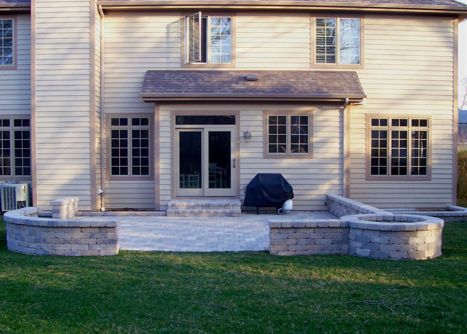 Charming Patio With Fire Pit By Tinley Park, IL Patio Builder   Design Ideas    Archadeck