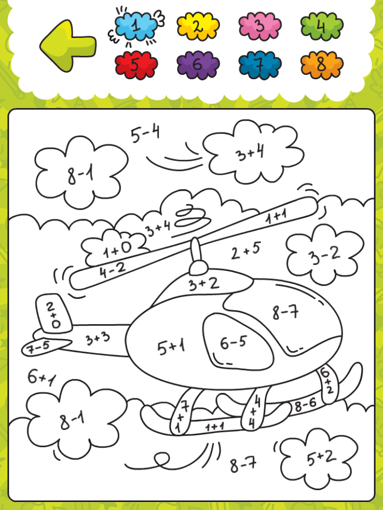 ZR 10: Ausmalbild | Arbeitsblätter | Pinterest | Ausmalbilder, Mathe ...