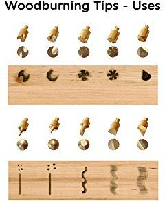Sparkleberry Industries Wood Burning Tips And Stencils Includes 15 Pyrography Tool Tips 12 S Wood Burning Tips Wood Burning Stencils Beginner Wood Burning