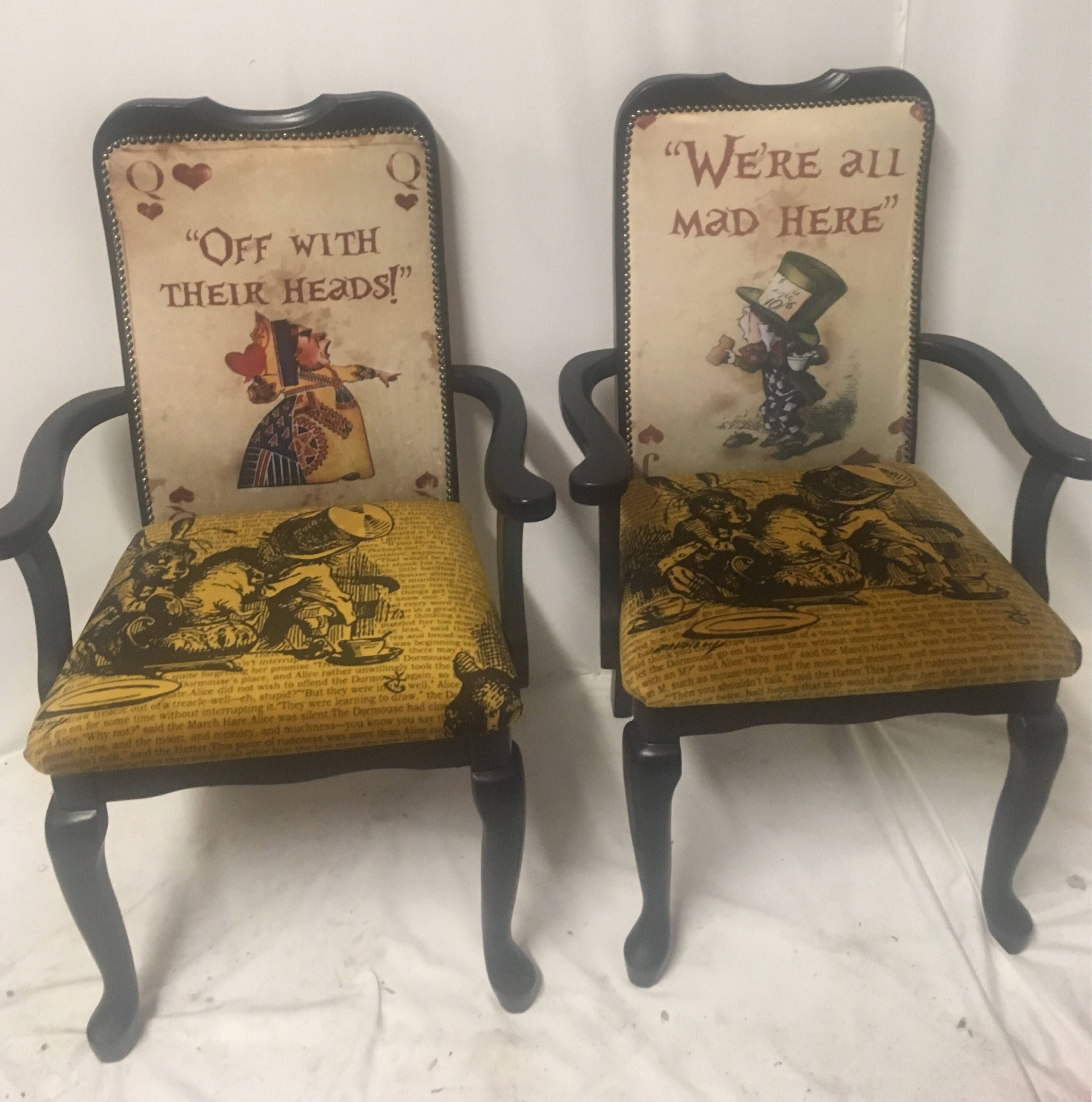 Housewarming Gift/ Alice In Wonderland Furniture/ High Backed Chair/  Alternative Home Decor/ Handmade/ Gifts For Her/ Home Furnishings