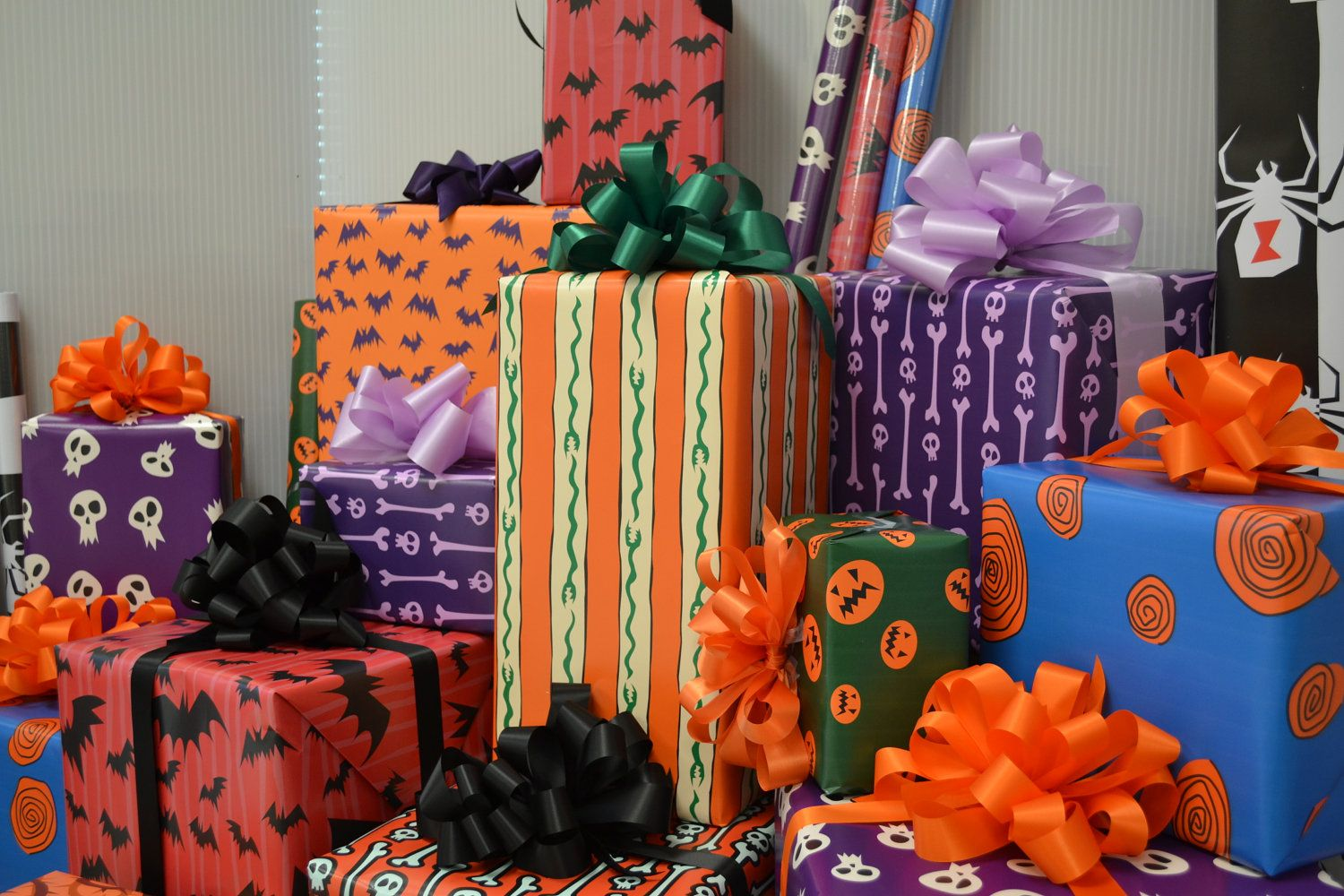 nightmare before christmas wrapping paper 1600 via etsy