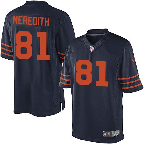 youth nike chicago bears 81 cameron meredith limited navy blue 1940s throwback alternate nfl jersey
