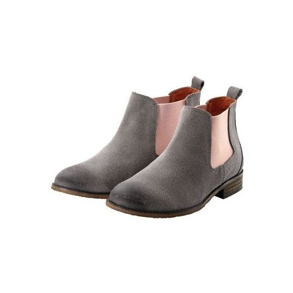 Bootie, Vintage-Optik, Chelsea-Style (€129) via Polyvore featuring shoes, boots, ankle booties, vintage boots, vintage ankle boots, short boots, ankle bootie boots und vintage booties