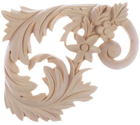 Carved Wood Stair Brackets